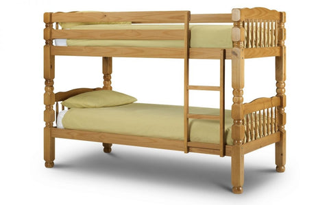 Chunky Bunk Bed - Solid Pine - Antique Finish