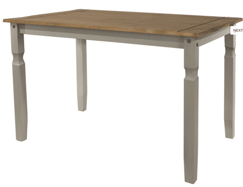 Corona Washed Grey 118cm Dining Table