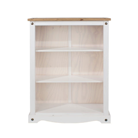 Corona Premium White Washed Low Bookcase