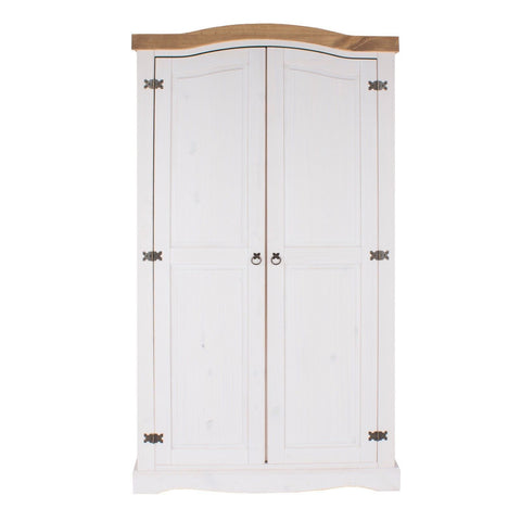 Corona Premium White Washed 2 Door Wardrobe