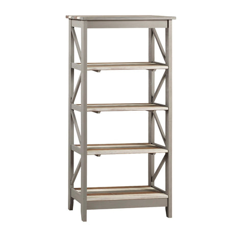 Corona Pine Premium Vintage Effect 5 Tier Wide Shelf Unit