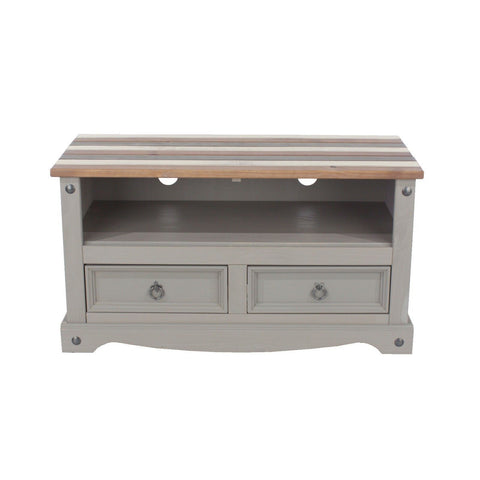 Corona Pine Premium Vintage Effect 2 Drawer TV Unit