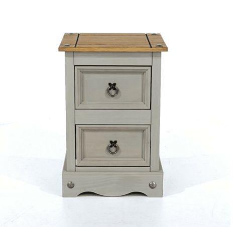Corona Painted 2 Drawer Bedside Table