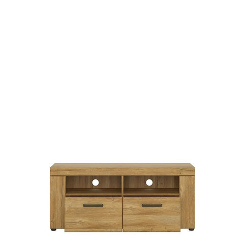 Cortina 2 drawer TV Unit in Grandson Oak Finish