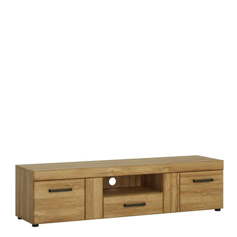 Cortina 2 door 1 drawer wide TV cabinet in Grandson Oak Finish