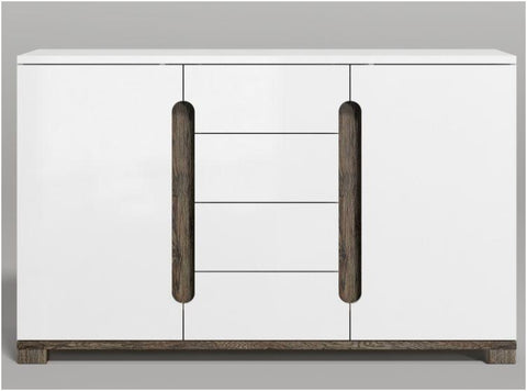 Argo 2 Door 4 Drawers White Gloss Sideboard