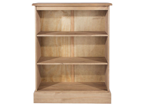 Cotswold Pine Low 3 Shelves Bookcase