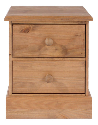 Cotswold Pine 2 Drawer Bedside Table