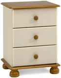 Forest Cream & Pine Furniture Set (Bedside, 2+4 Chest, 2 Door Wardrobe)