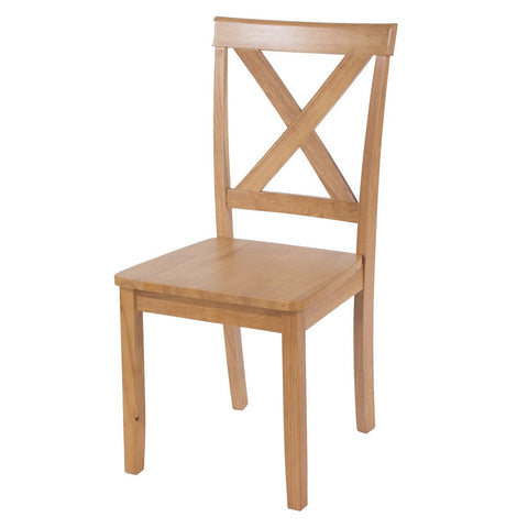 Hamilton Wooden Cross Back Chairs (Set of 2)