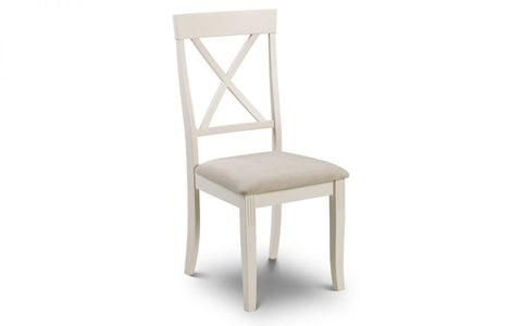 Davenport Crossback Dining Chair With Faux Suede Seat