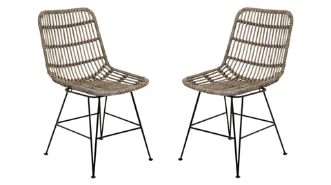 Full Rattan Dining Chair - Set of 2