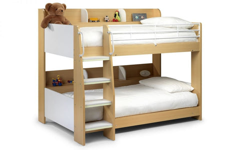 Domino Bunk Bed - Maple/White Finish