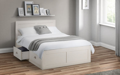 Emily Ivory 4 Drawer Wooden Storage Bed