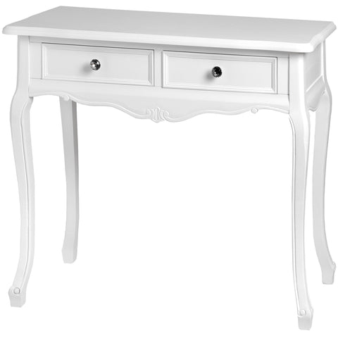 Fleur White 2 Drawer Console Table