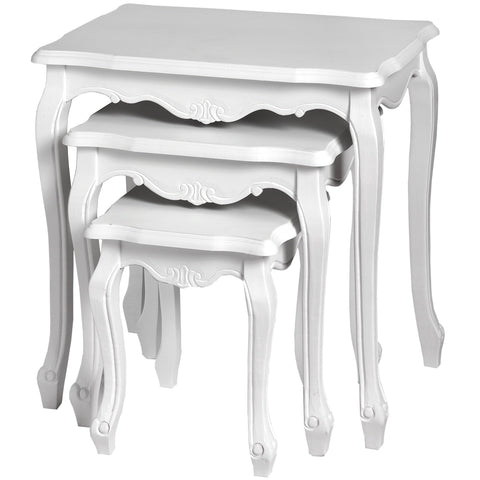 Fleur White Nest of Tables