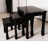 Marble Effect Nest of Tables
