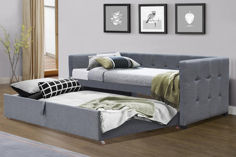 Holly Charcoal Fabric Day Bed With Guest Bed
