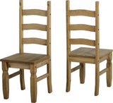 Corona 6' Dining Set in Distressed Waxed Pine