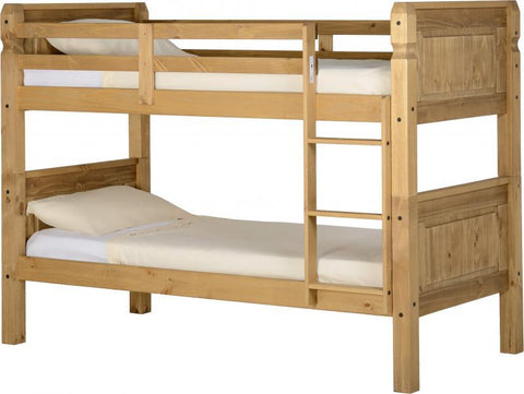 Corona 3' Bunk Bed in Distressed Waxed Pine
