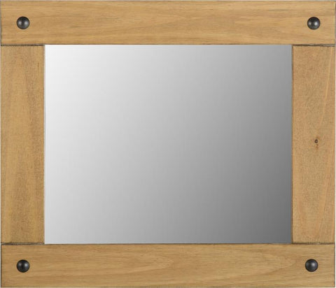 Corona Medium Wall Mirror in Distressed Waxed Pine