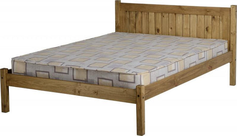 "Maya 4'6"" Bed in Distressed Waxed Pine"