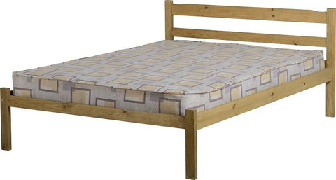 "Panama 4'6"" Bed in Natural Wax"