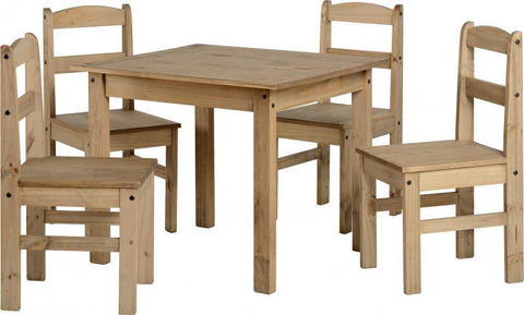 Panama Dining Set in Natural Wax