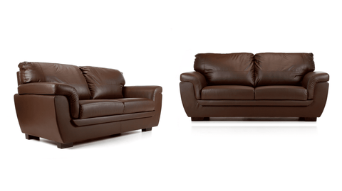 Katia Faux Leather 3+2 Sofa Set in Brown