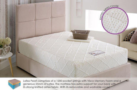 Latex Pearl 1200 - 28cm Pocket Sprung Mattress - All Sizes