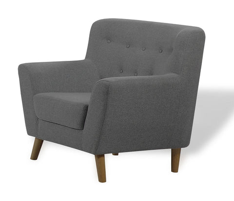 Modern Scandi Style Fabric Tub Sofa - Choice of 3 Seater, 2 Seater & 1 Seater Arm Chair - Charcoal
