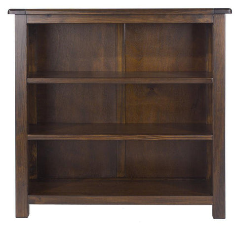 Boston Dark Wood Low Bookcase