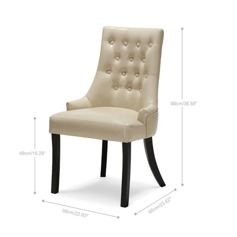 Tufted Scoop Back Chair