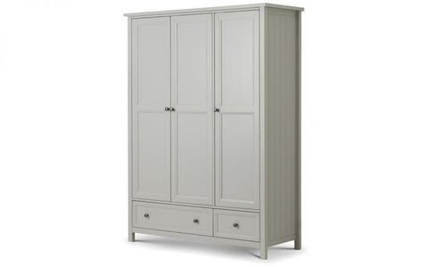 Maine 3 Door Combination Wardrobe - Grey