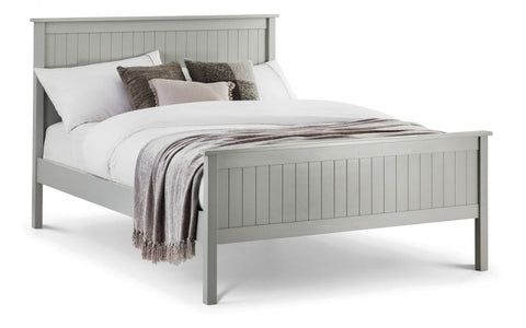Maine Wooden Panelled Bed - Grey