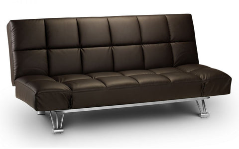 Manhattan Faux Leather Sofa Bed - Brown or Black