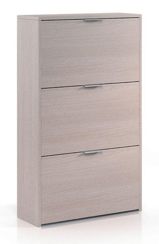 Marv Light Oak 3 Shelves Shoe Cabinet