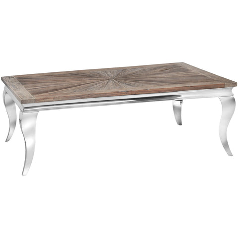 Mayfair Chrome & Reclaimed Elm Coffee Table