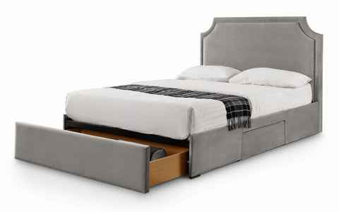 Mayfair 3 Drawer Studded Fabric Bed - Double & King Size