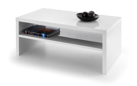 Metro High Gloss Coffee Table In White