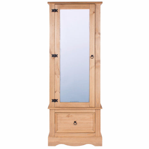 Corona Pine Armoire With Mirrored Door