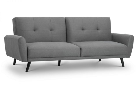 Monza Retro Fabric Sofa Bed In Grey