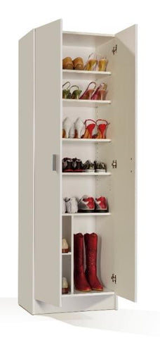 White Multi Purpose 2 Door Storage Cupboard