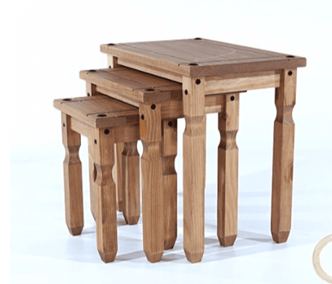 Corona Pine Nest Of Tables (3 Piece)