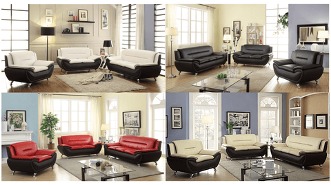 Gia Modern Luxury Full Sofa Set - 3 Colours & Seating Combination