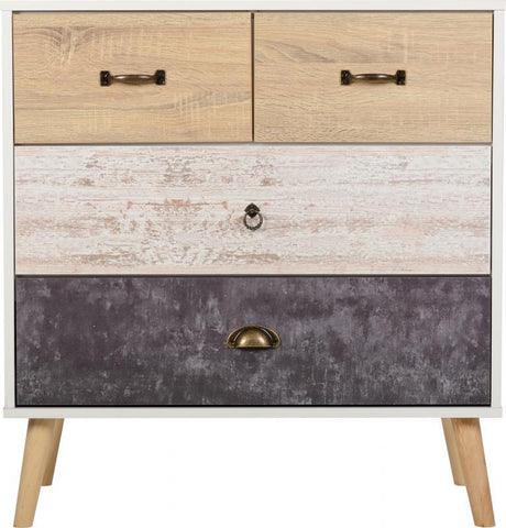 Nordic Scandinavian Style 2+2 Chest Of Drawers