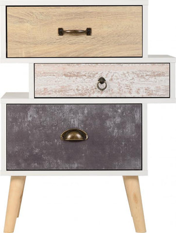 Nordic Scandinavian Style 3 Drawer Bedside Table