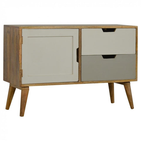 Nordic Style 1 Door 2 Drawer Painted Front Media/TV Unit