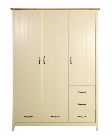 Norfolk Cream 2 Door 4 Drawers Wardrobe