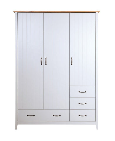 Norfolk Grey 3 Door 4 Drawers Wardrobe